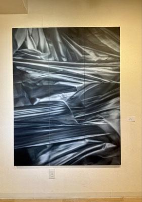 「TRASH」 硯川秀人 (156×124cm アクリル・エアブラシ)