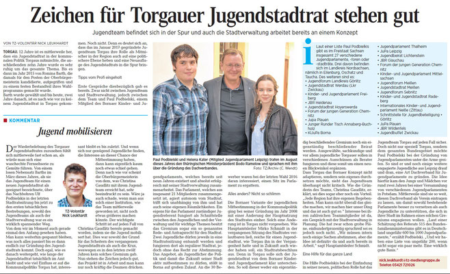 Torgauer Zeitung vom 09.10.2017