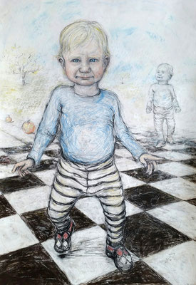 Walker • 100 x 70 cm • pastel & charcoal on paper