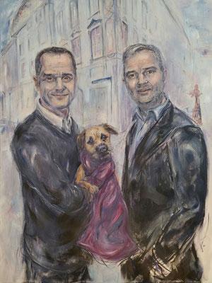 Johnny Talbot & Adrian Runho . 150 x 120 cm . Oil on Canvas