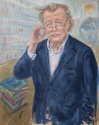 Peter Sloterdijk • German Philosopher • 110 x 90 cm • Oil on Canvas