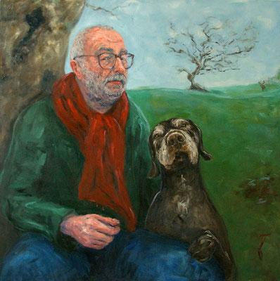 Heiko Gebhardt mit Moritz • 120 x 120 cm • Oil On Canvas