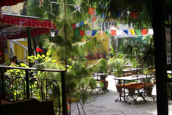 """Der Hof des Restaurants mit dem schönen Namen """"Brezel"""""""