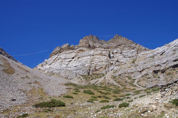 Auf dem Weg zum High Camp in 4800 m