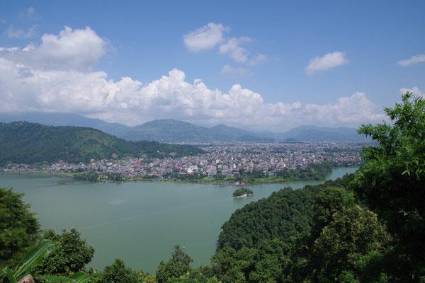 Blick auf Pokhara
