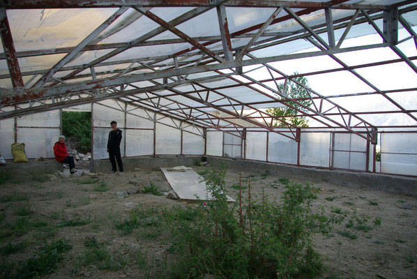 Saspochey: Sturmschäden am Gewächshaus