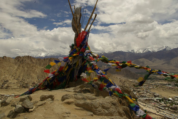 Leh, Blick nach Süden zur Great Himalayan Range
