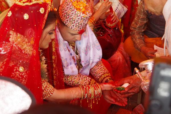 Zeremonie draussen