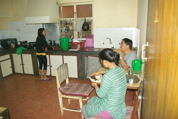 Das Personal beim Frühstück
