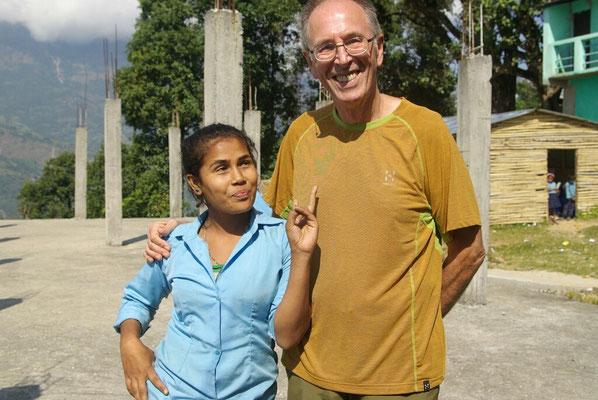 Manisha, immer gut gelaunt und eine Stütze im Englischunterricht
