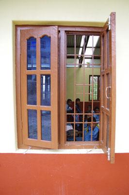 Glasfenster, auf dem Land ganz ungewoehnlich