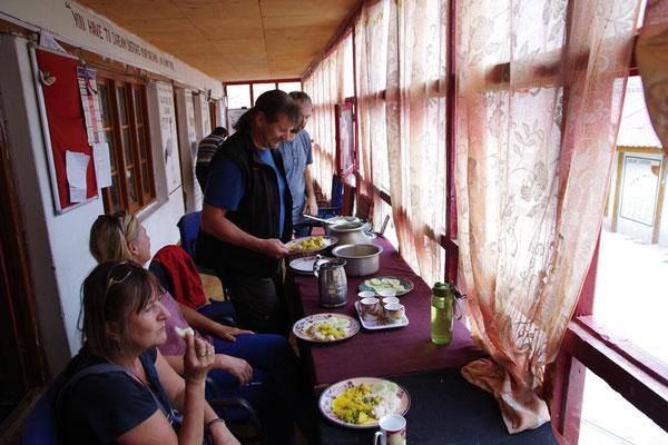 Mittagessen mit den Lehrern....