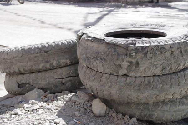 Abgefahrene Reifen sehen hier so aus!!