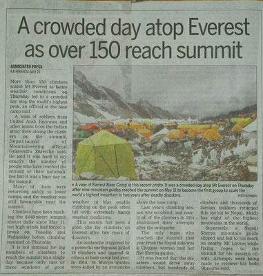 Massenansturm auf den Everest
