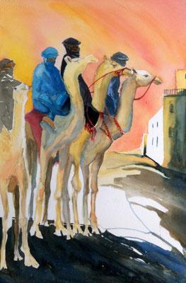 Camels at Dawn