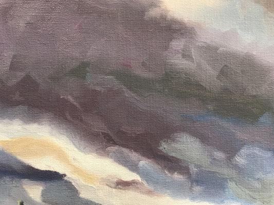 Paars expressieve wolken