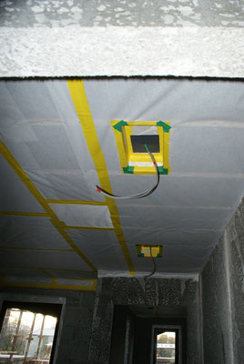 Vapour control membrane for ceilings