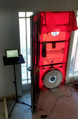NSAI certified air tightness test - depressurized test mode