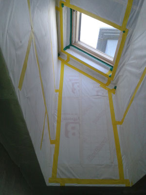 Vapour control membrane for Velux tunnels