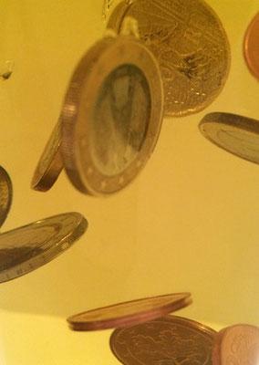 Idee für Geldgeschenk mit Münzen für große und kleine Jungs die Partyüberraschung
