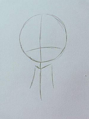 Chibi zeichnen Schritt 2