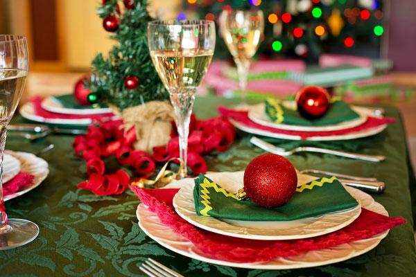 Heiligabend Festtafel