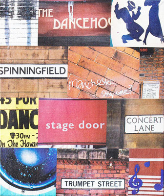 manchester city clubbing music canvas photo montage dancing trumpet street concert lane dancehouse