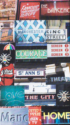 iconic manchester city street scenes canvas urban photography manchester bee
