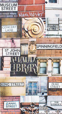 manchester city museum street duke spinningfield canal st john concert lane name photo montage canvas print