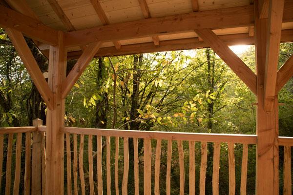 La Cabane Haut-Charmes, Périgord, Dordogne - location - gîte - 4 personnes - pendant les travaux