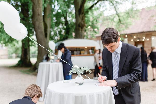 Sektempfang Hochzeit Outdoor