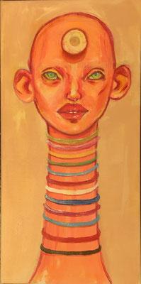 """Cyclopes""  auf Goldfarbe  |  40x20 cm  |  CHF 180.00"
