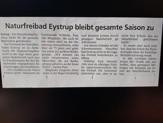 Kreiszeitung 02. Juli 2020