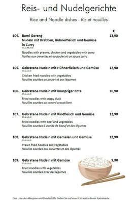 Reis und Nudeln II