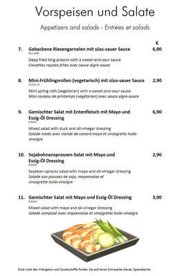 Vorspeisen und Salate I