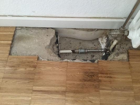 Wasserschaden durch defekte Heizleitung