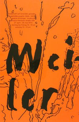 Max Weiler Poster Plakat