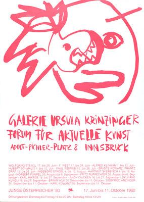Brigitte Kowanz plakat Poster mit Franz Graf