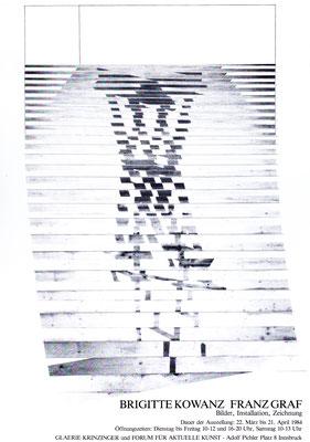 Brigitte Kowanz Poster Plakat mit Franz Graf