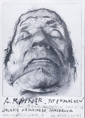 Arnulf Rainer Poster Plakat Toter