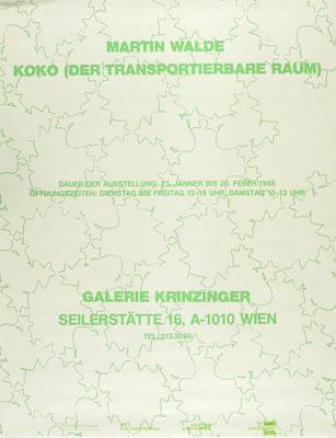 Martin Walde Plakat Poster