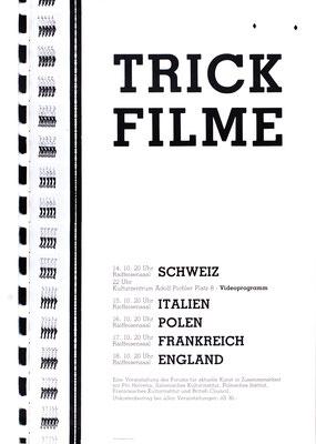 Trickfilme Poster Plakat Galerie Krinzinger