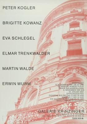 Diverse Künstler Plakat Galerie Krinzinger