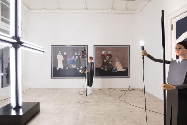 Artworks in the gallery by the German Contemporary artist Thomas Zipp