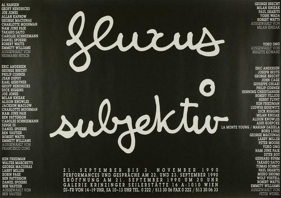 Fluxus subjektiv Plakat Poster