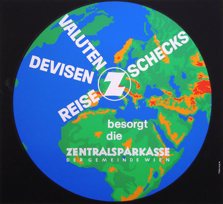 Heinz Traimer Plakat Poster Zentralsparkasse 1960s
