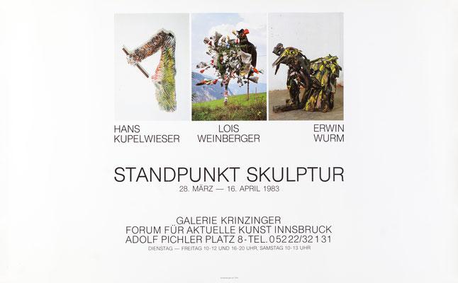 Standpunkt Skulptur u. A. Weinberger und Erwin Wurm Poster Plakat