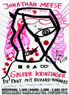 Jonathan Meese Plakat Poster De Pakt mit Richard Wagnerz