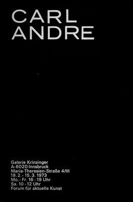 Carl Andre Poster Plakat Siebdruck