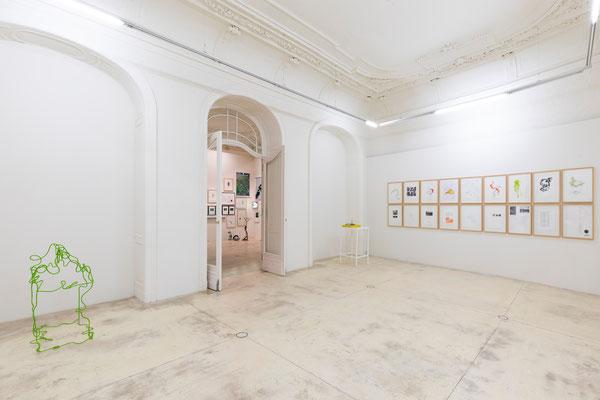 Lois Weinberger Ausstellung in der Galerie Krinzinger Wien.